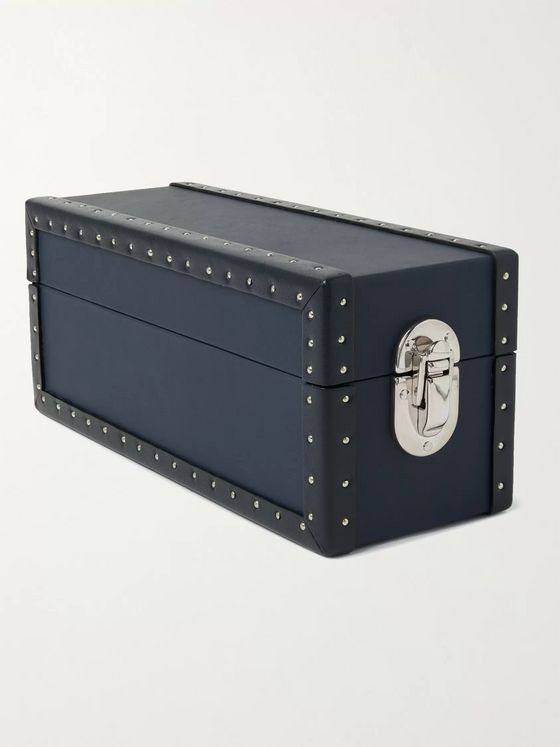 Rapport London Kensington Studded Leather Two-Watch Box