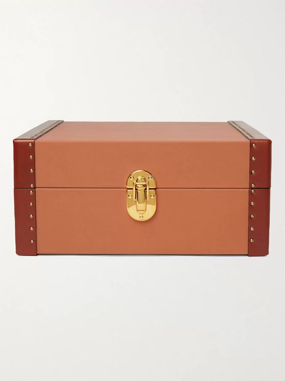 Rapport London Kensington Studded Leather Six-Watch Box