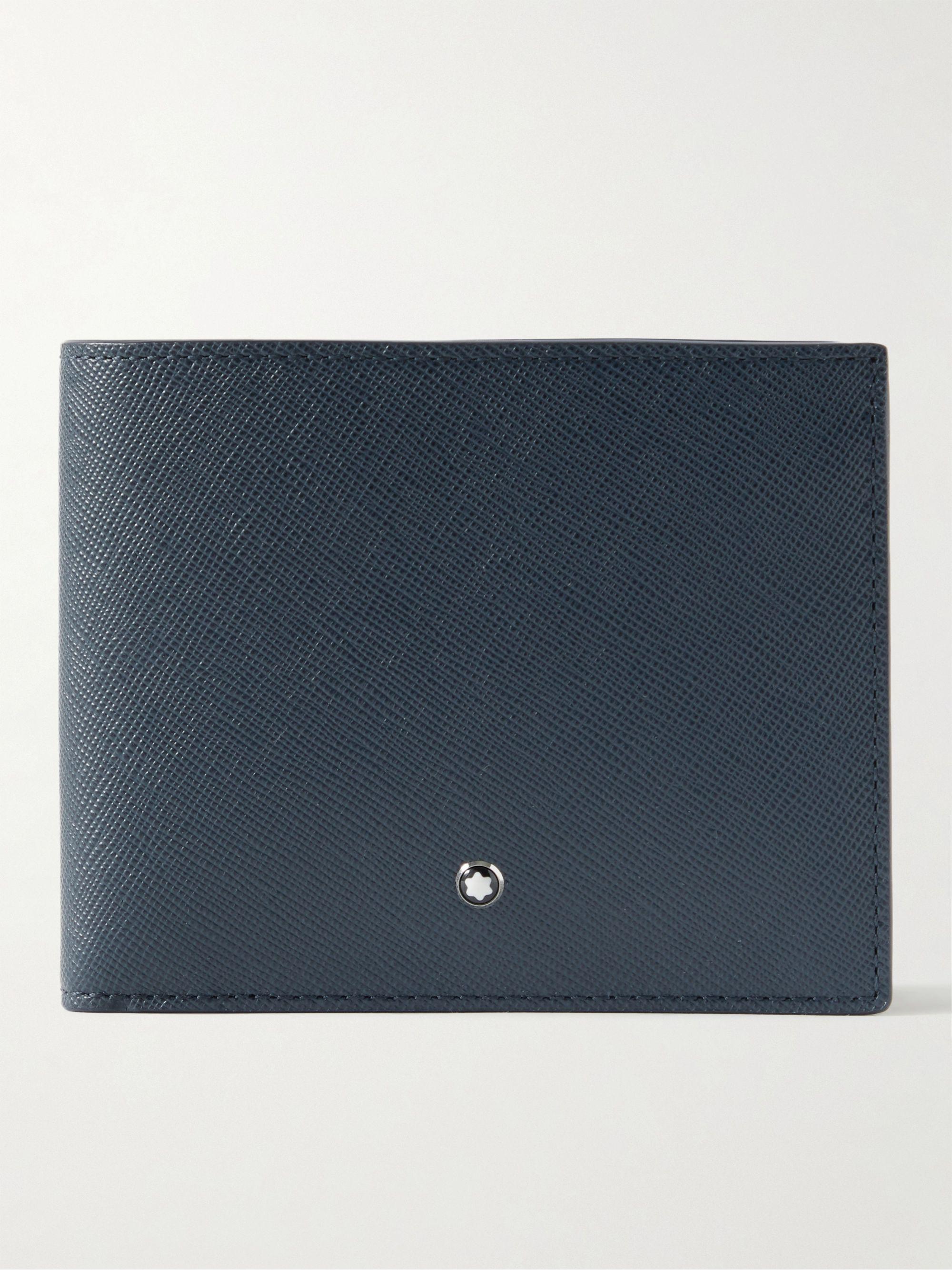 몽블랑 반지갑 Montblanc Sartorial Cross-Grain Leather Billfold Wallet,Navy