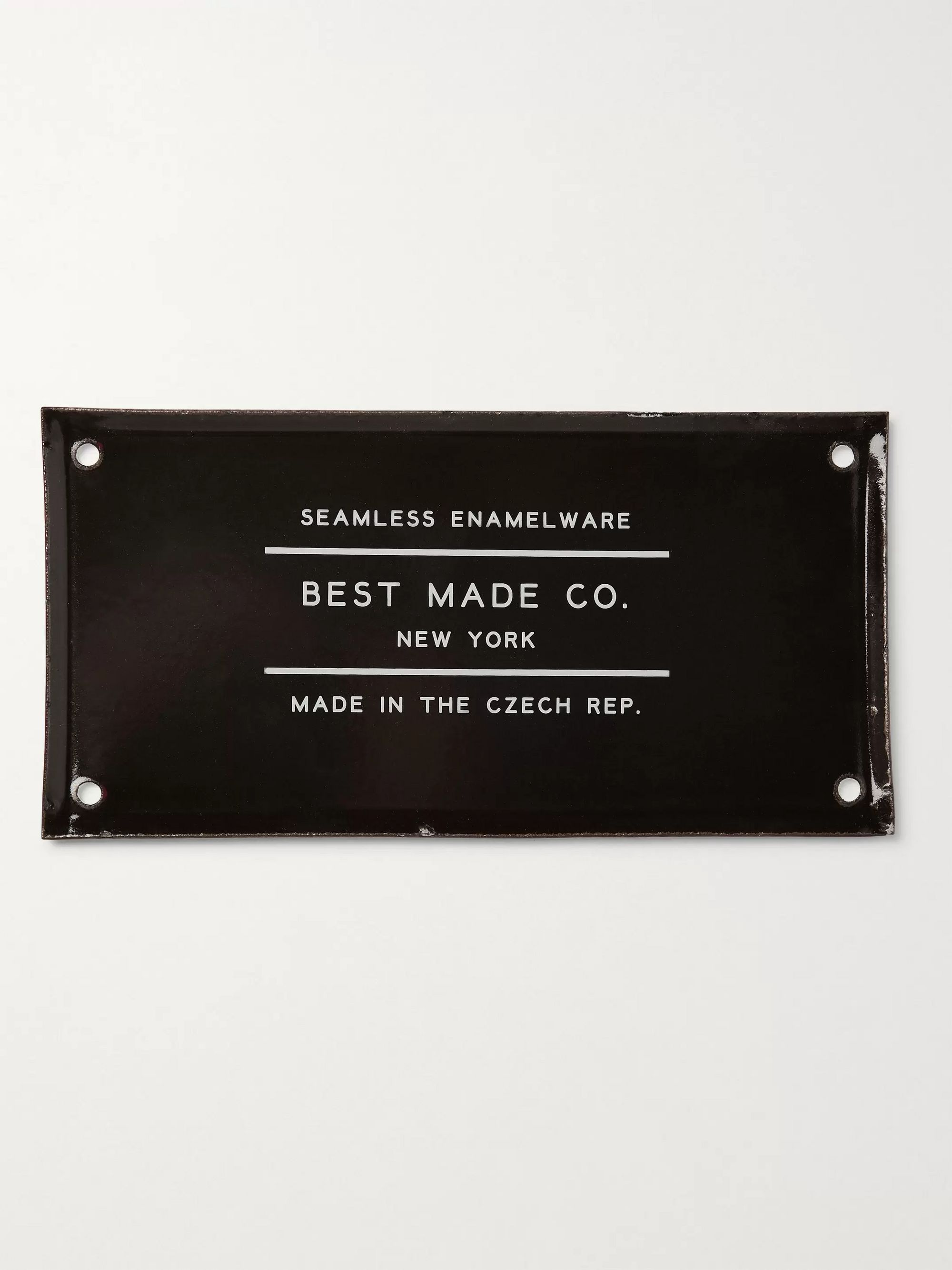 Best Made Company Steel and Enamel Sign