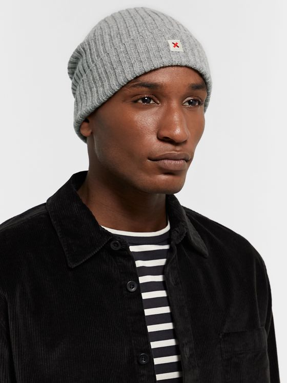 Best Made Company Cap of Courage Logo-Appliquéd Ribbed Wool Beanie