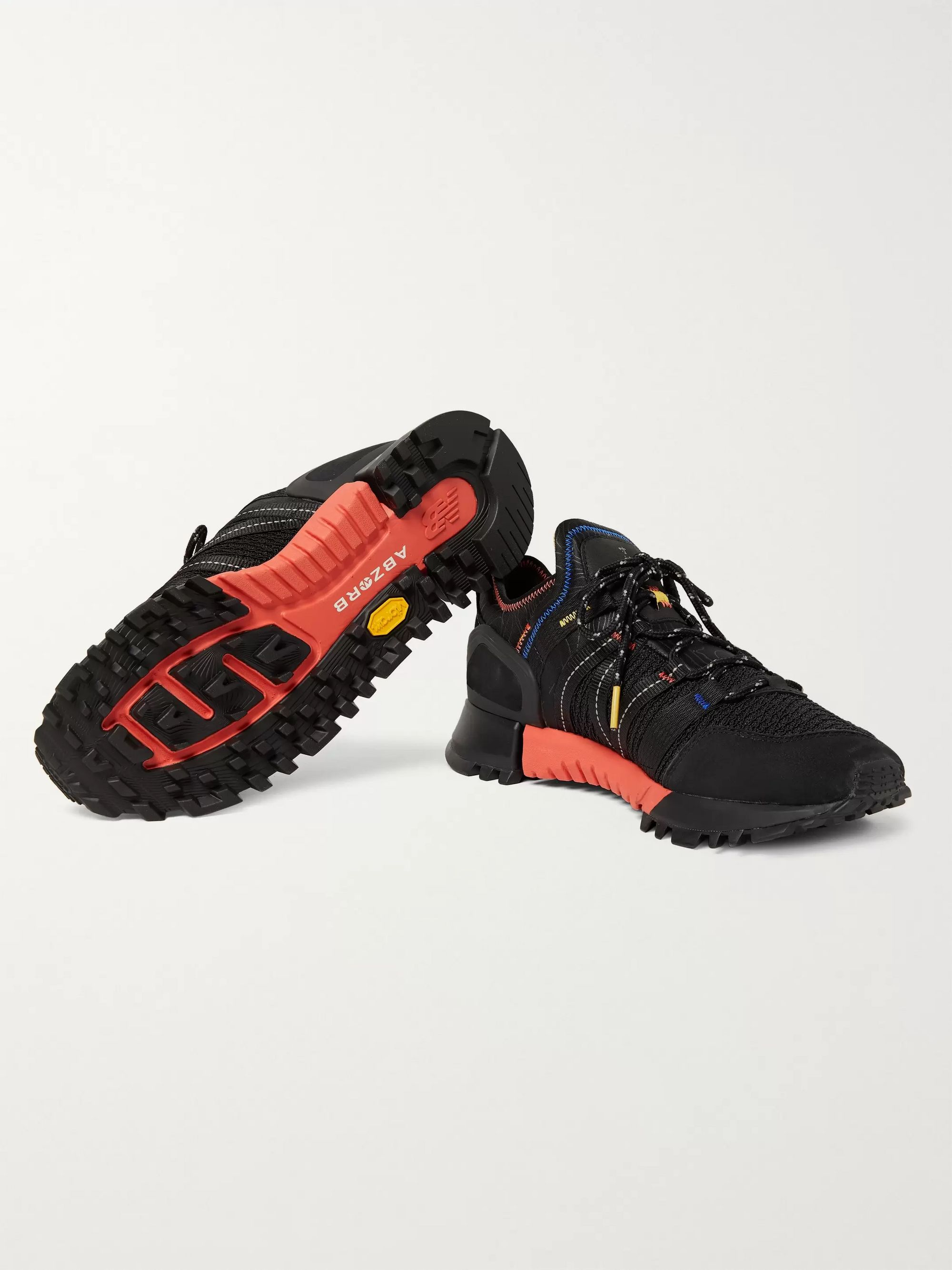 New Balance R_C4 Webbing and Nubuck-Trimmed CORDURA Tracefiber and Mesh Sneakers