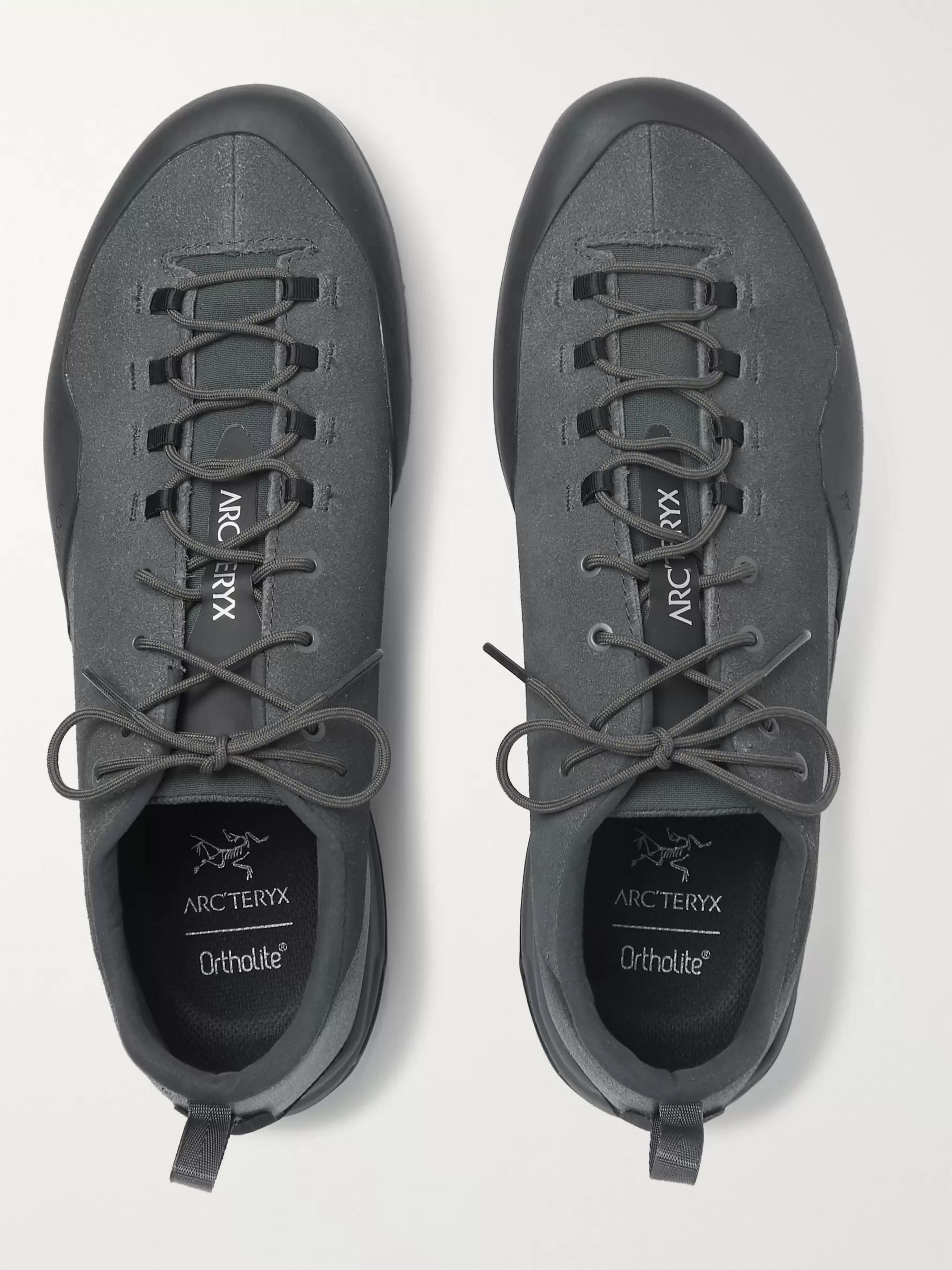 Arc'teryx Konseal AR Rubber-Trimmed Nubuck Hiking Sneakers