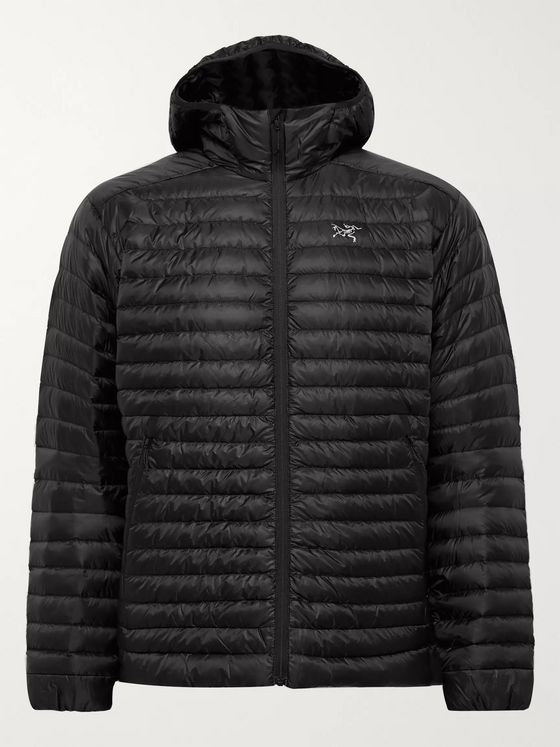 Arc'teryx Cerium LT Slim-Fit Quilted Arato 10 Nylon Hooded Down Jacket