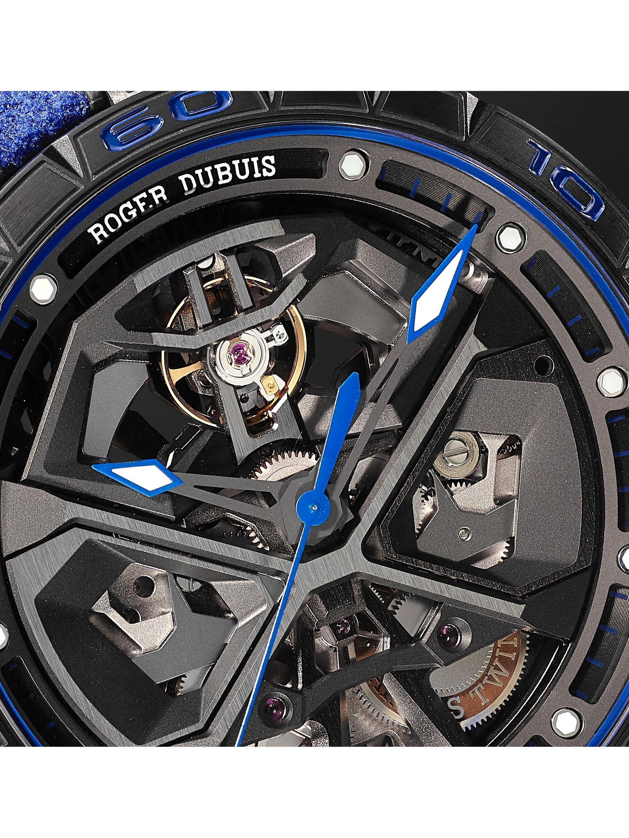 Roger Dubuis Excalibur Huracán Automatic Skeleton 45mm Titanium and Rubber Watch, Ref. No. RDDBEX0749