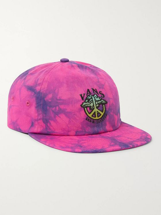 Vans SK8-Hi Forever Logo-Embroidered Tie-Dye Cotton-Twill Baseball Cap