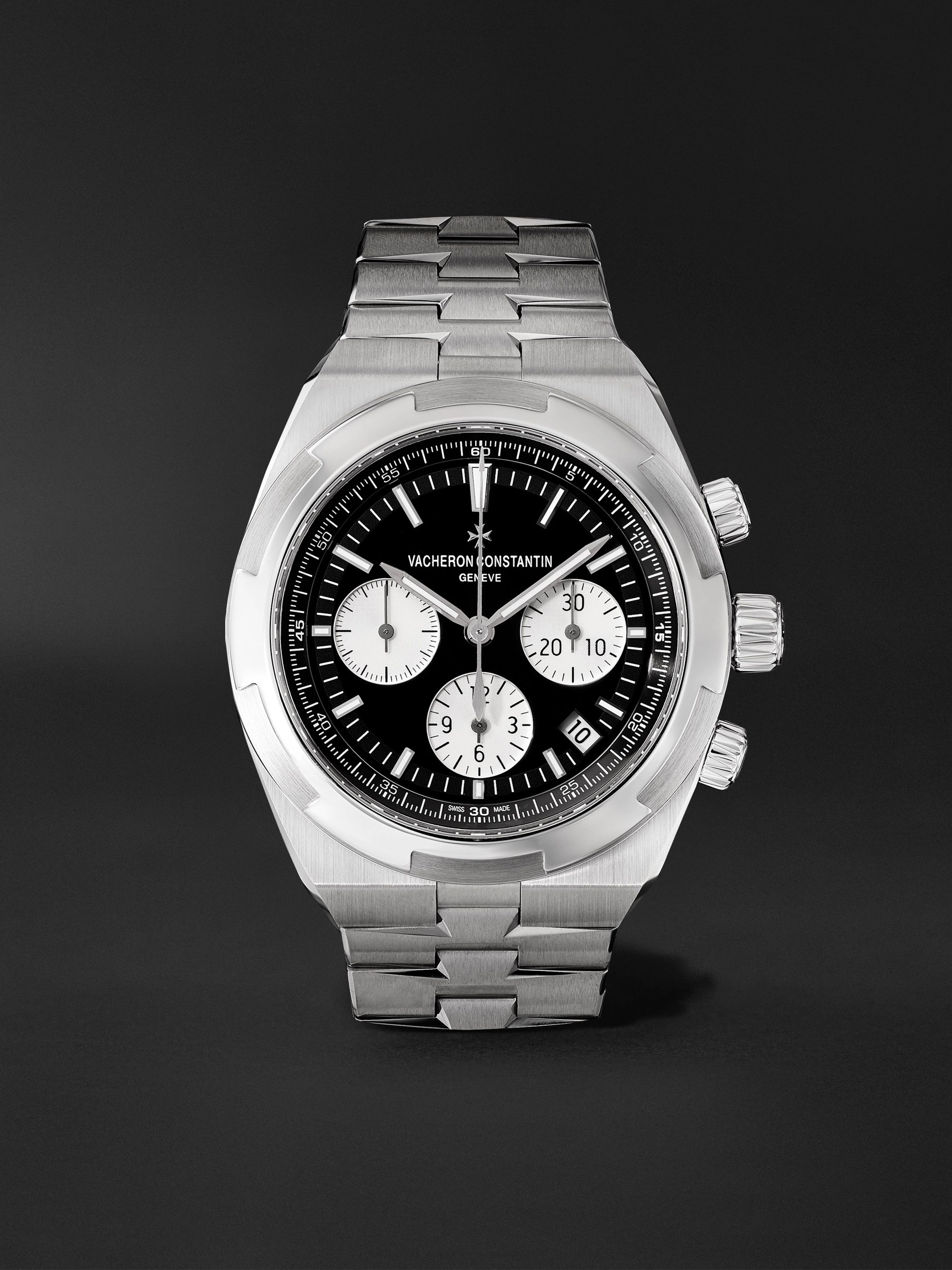 VACHERON CONSTANTIN Overseas Automatic Chronograph 42.5mm Stainless Steel Watch, Ref. No. 5500V/110A-B481