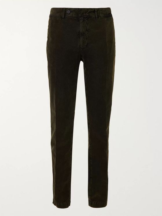 Massimo Alba Tapered Cotton-Corduroy Suit Trousers