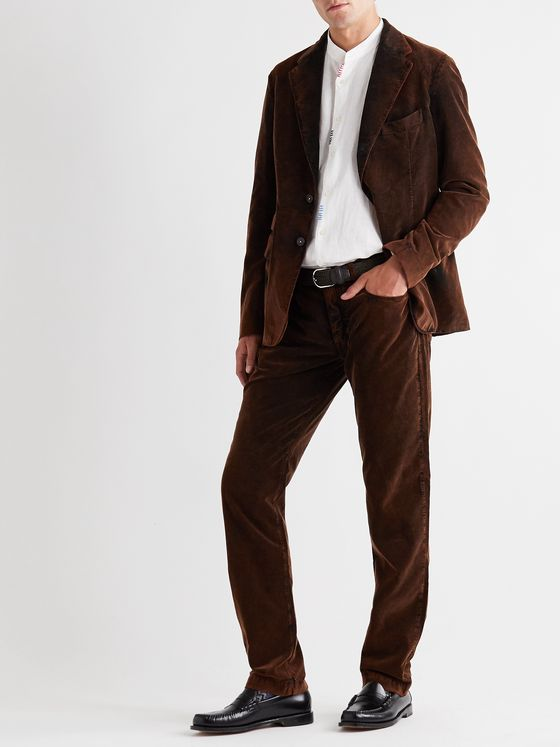 Massimo Alba Unstructured Cotton-Corduroy Blazer