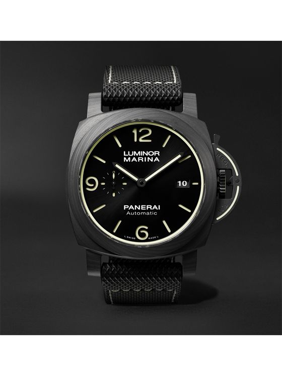 PANERAI Luminor Marina Automatic 44mm Carbotech and Sportech Watch, Ref. No. PAM01118