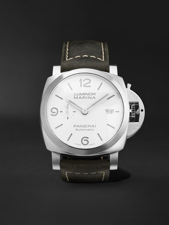 PANERAI Luminor Marina Automatic 44mm Stainless Steel and Suede Watch, Ref. No. PAM01314