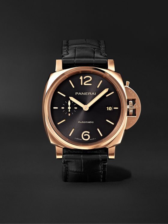 PANERAI Luminor Due Automatic 42mm Goldtech and Alligator Watch, Ref. No. PAM01041