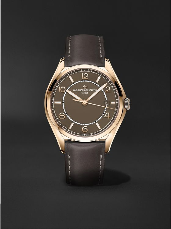 VACHERON CONSTANTIN Fiftysix Automatic 40mm Pink Gold and Leather Watch, Ref. No. 4600E/000R-B576