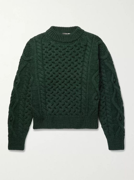 Isabel Marant Flick Wool-Blend Cable-Knit Sweater