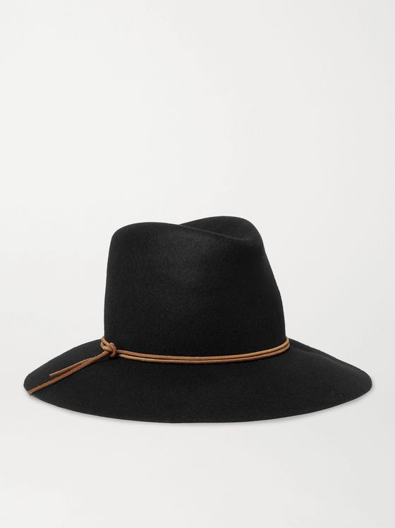 ISABEL MARANT Kinly Leather-Trimmed Wool-Felt Hat