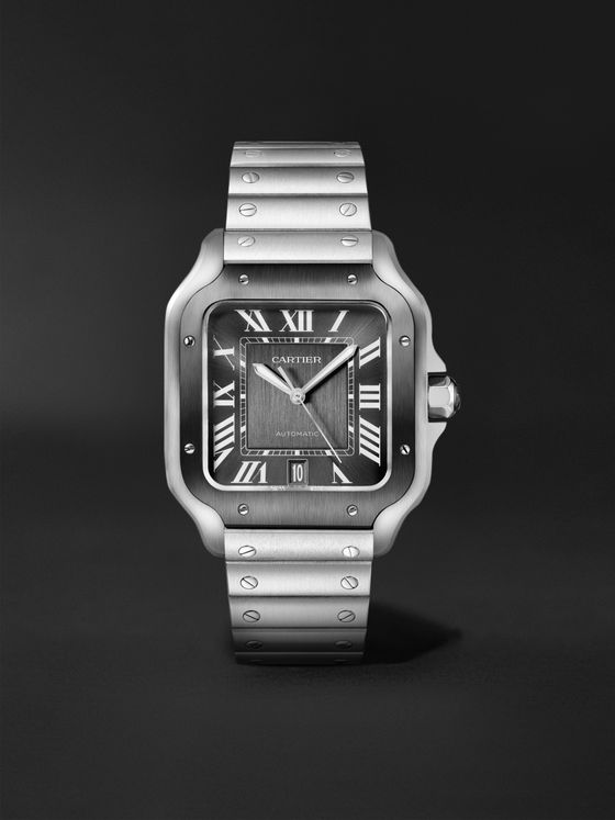 CARTIER Santos de Cartier Automatic 39.8mm Steel Watch, Ref. No. WSSA0037