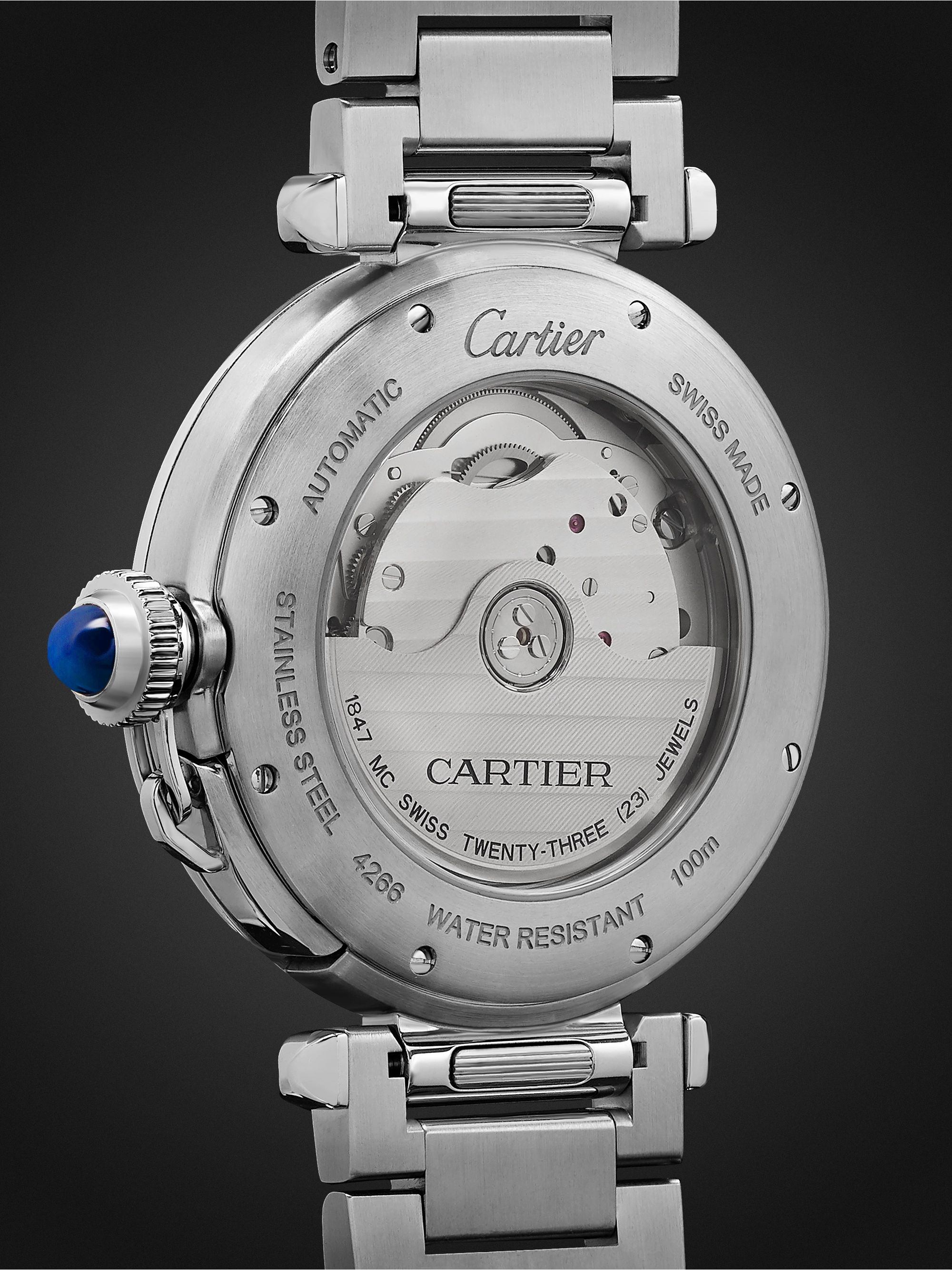 Cartier Pasha de Cartier Automatic 41mm Stainless Steel and Alligator Watch, Ref. No. WSPA009