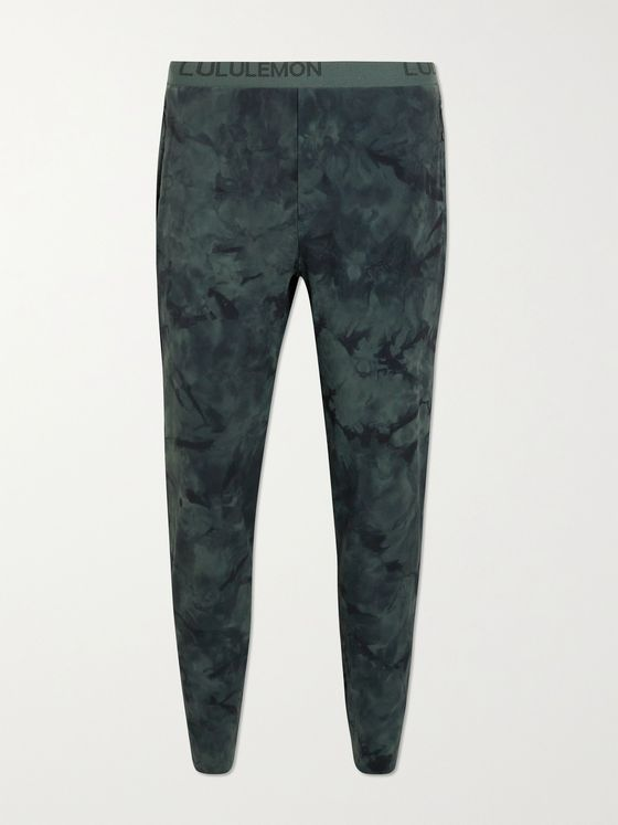 LULULEMON Fast & Free Slim-Fit Tapered Camouflage-Print Stretch-Shell Sweatpants