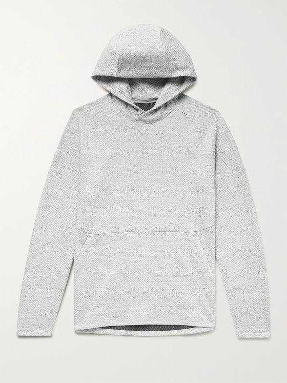 LULULEMON At Ease Mélange Waffle-Knit Cotton-Blend Hoodie