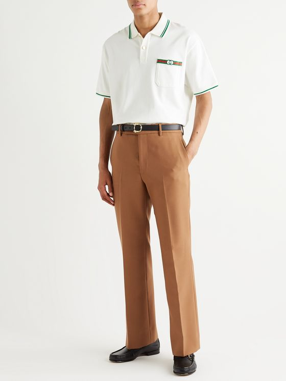 Gucci Flared Canvas Trousers
