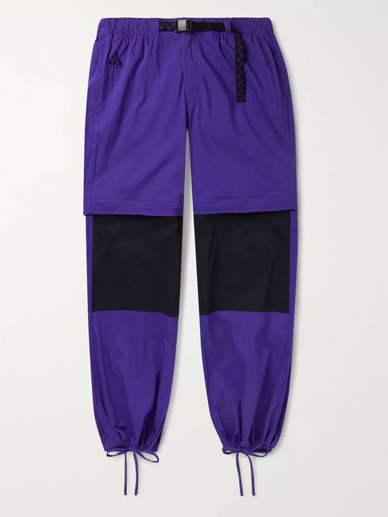 Nike ACG NRG Convertible Logo-Embroidered Cotton-Blend Trousers