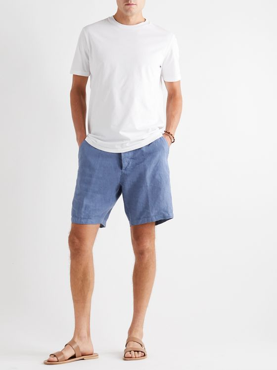 ALTEA Embroidered Linen Shorts