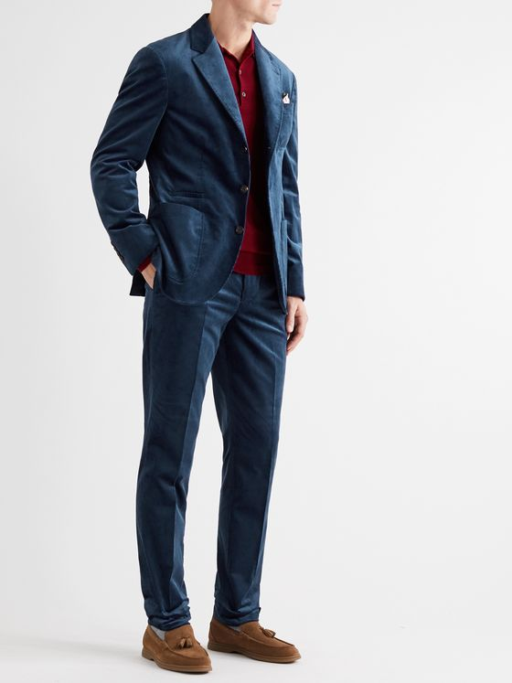 Brunello Cucinelli Slim-Fit Cotton-Corduroy Suit Trousers