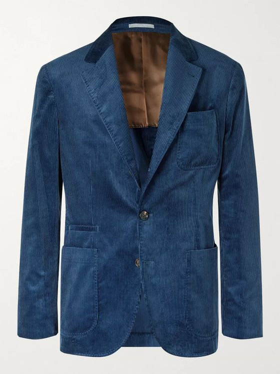 BRUNELLO CUCINELLI Slim-Fit Unstructured Cotton-Corduroy Suit Jacket