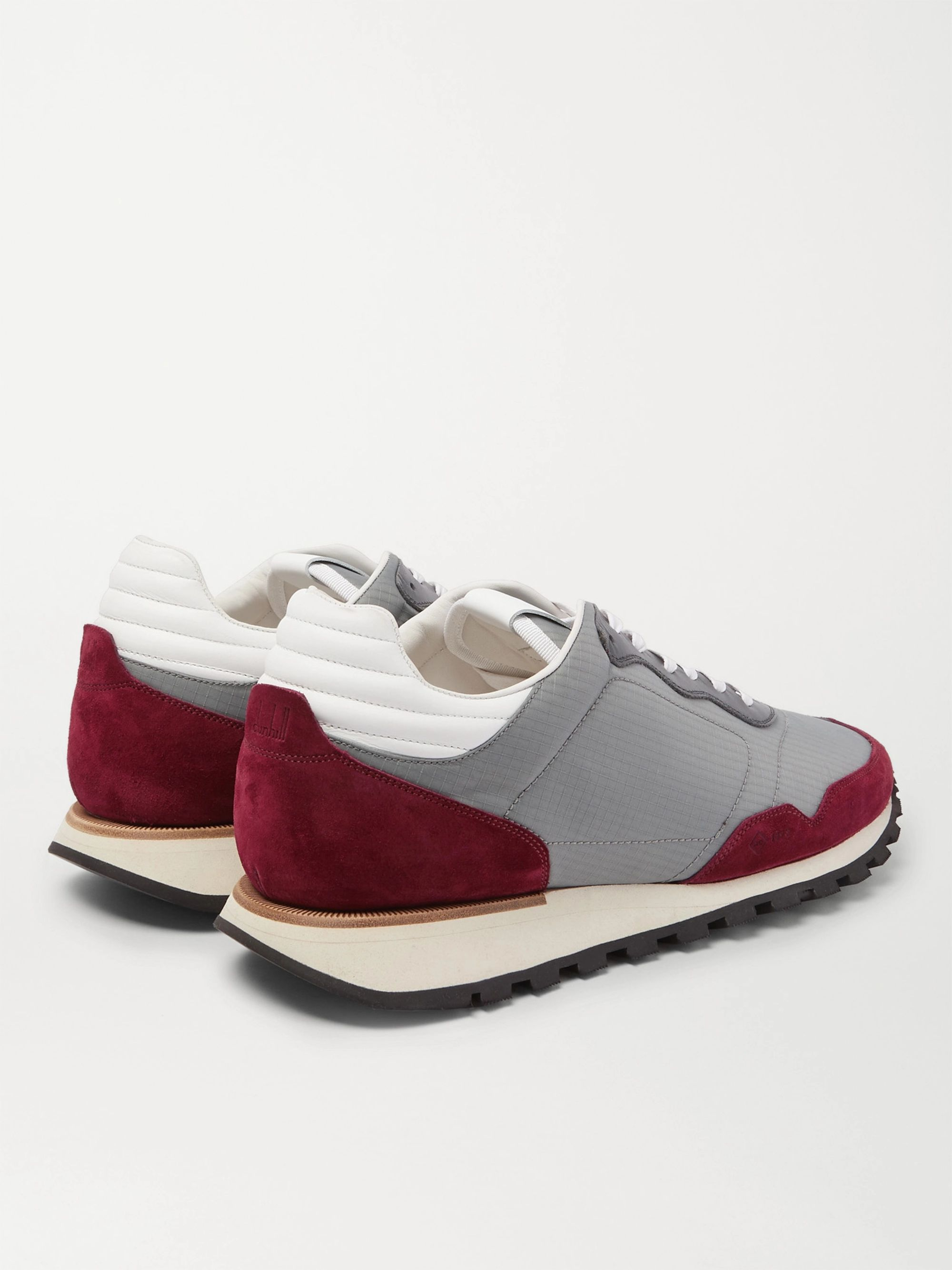 Gray Axis Ripstop, Suede And Leather Sneakers | Dunhill