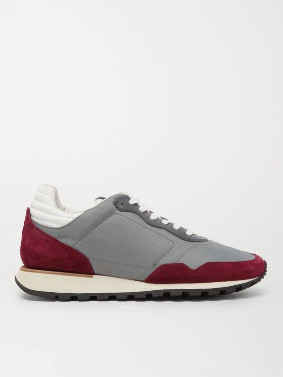 Dunhill Axis Ripstop, Suede and Leather Sneakers
