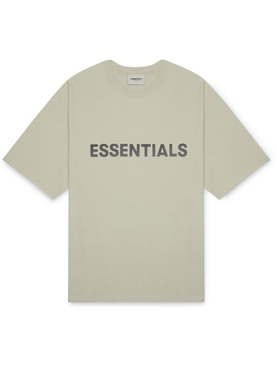 Fear of God Essentials Logo-Appliquéd Cotton-Jersey T-Shirt