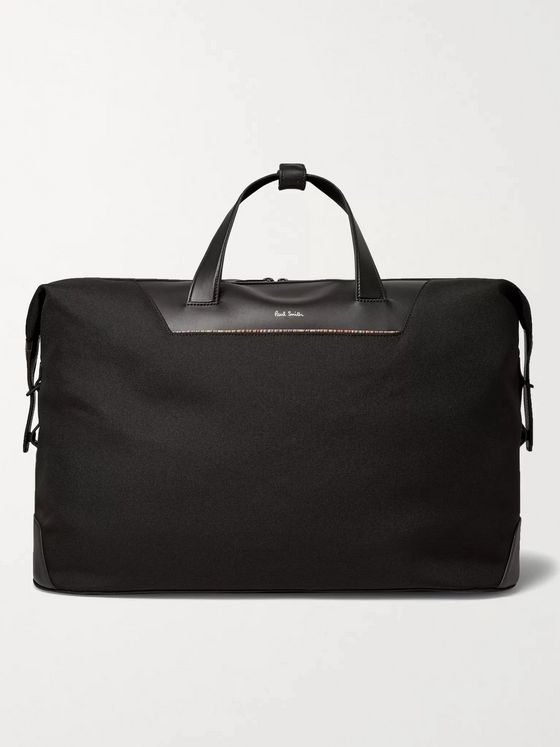 PAUL SMITH Leather-Trimmed Nylon Holdall