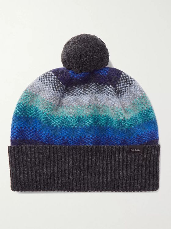 PAUL SMITH Striped Wool Beanie