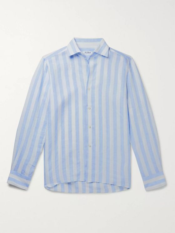 De Petrillo Striped Linen Shirt