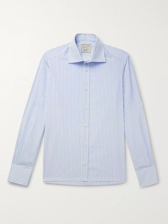 Giuliva Heritage Luigi Striped Cotton-Poplin Shirt