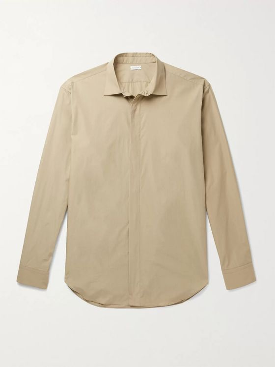 Caruso Cutaway-Collar Cotton Shirt