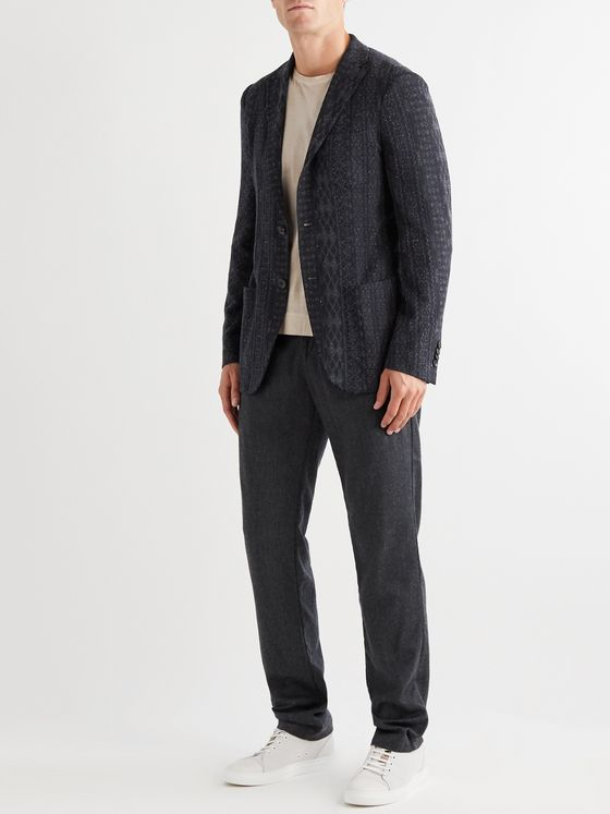 Etro Linen, Silk, Cotton and Nylon-Blend Jacquard Blazer