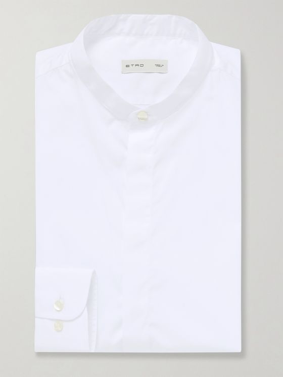 ETRO Grandad-Collar Cotton Shirt