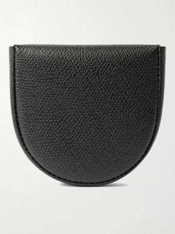 VALEXTRA Pebble-Grain Leather Coin Wallet