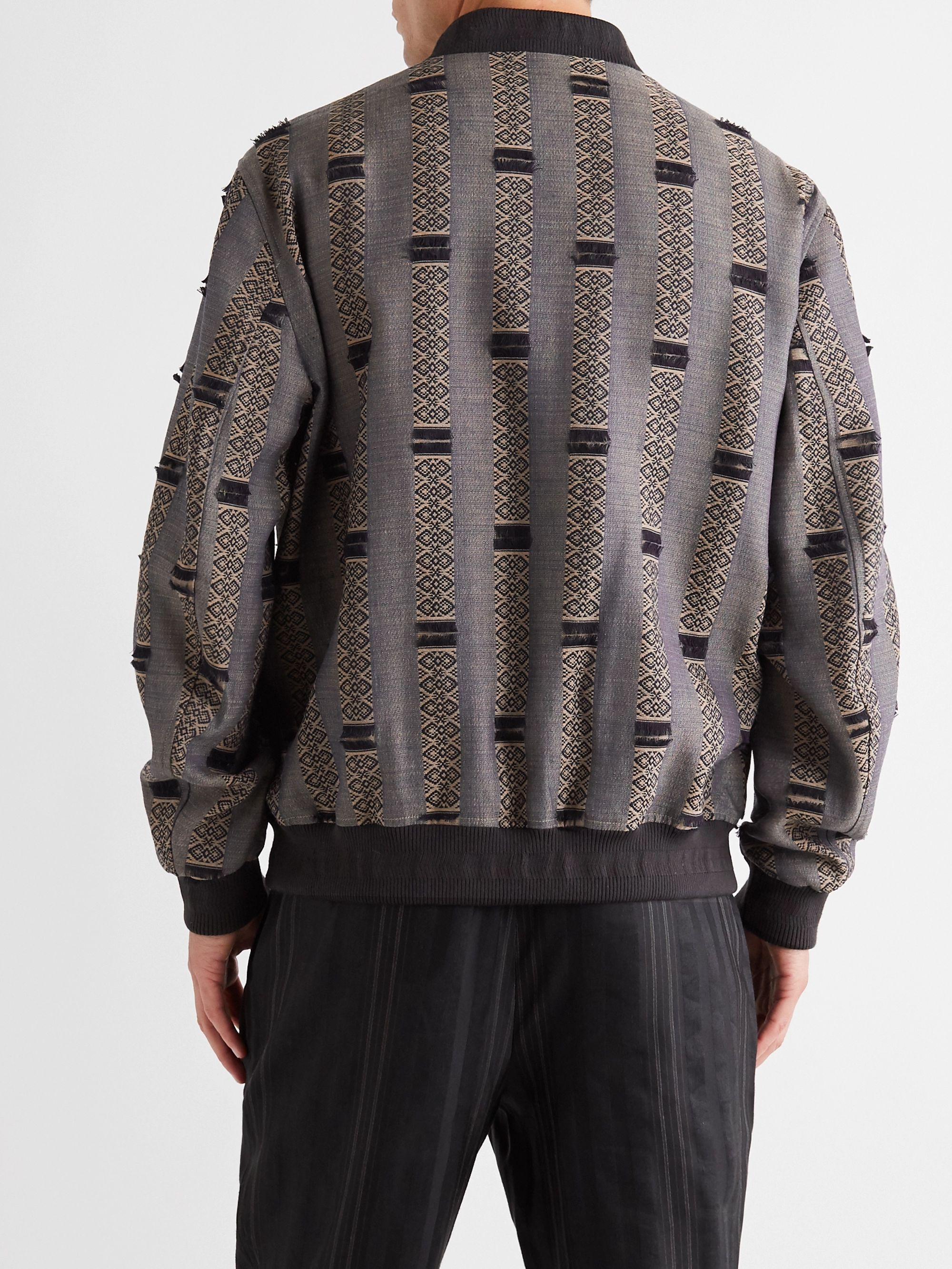 ETRO Wool and Silk-Blend Jacquard Bomber Jacket
