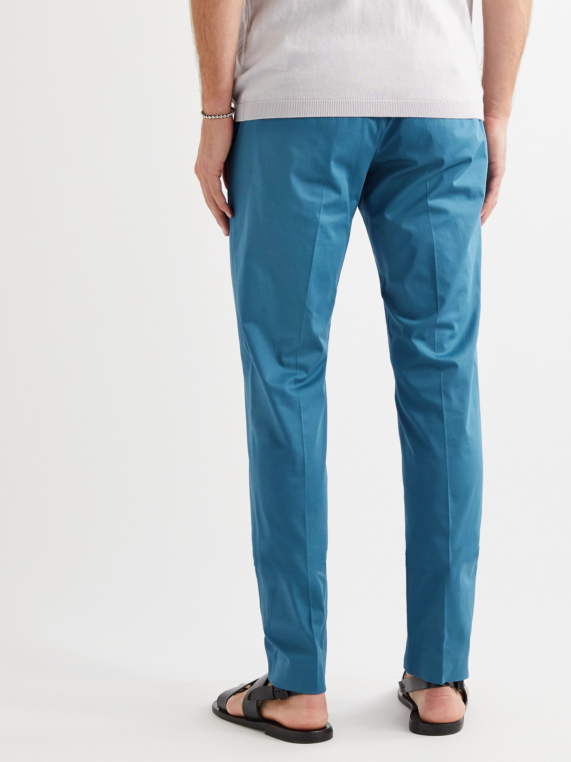 ETRO Stretch-Cotton Twill Trousers