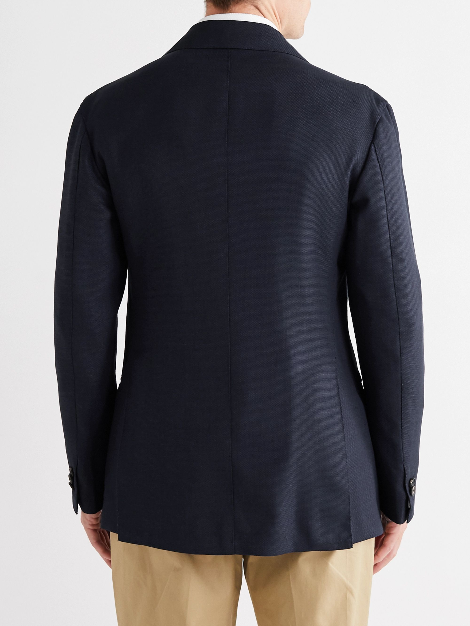 GIULIVA HERITAGE Stefano Double-Breasted Virgin Wool-Hopsack Blazer