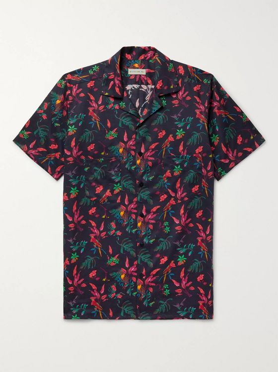 ETRO Camp-Collar Printed Cotton Shirt
