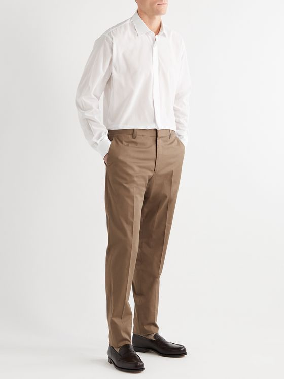 Caruso Stretch-Cotton Suit Trousers