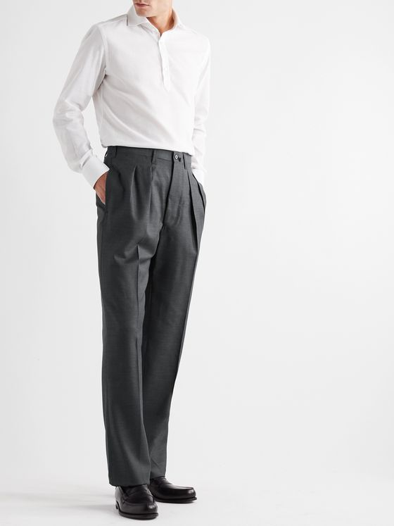 GIULIVA HERITAGE Umberto Pleated Wool Trousers