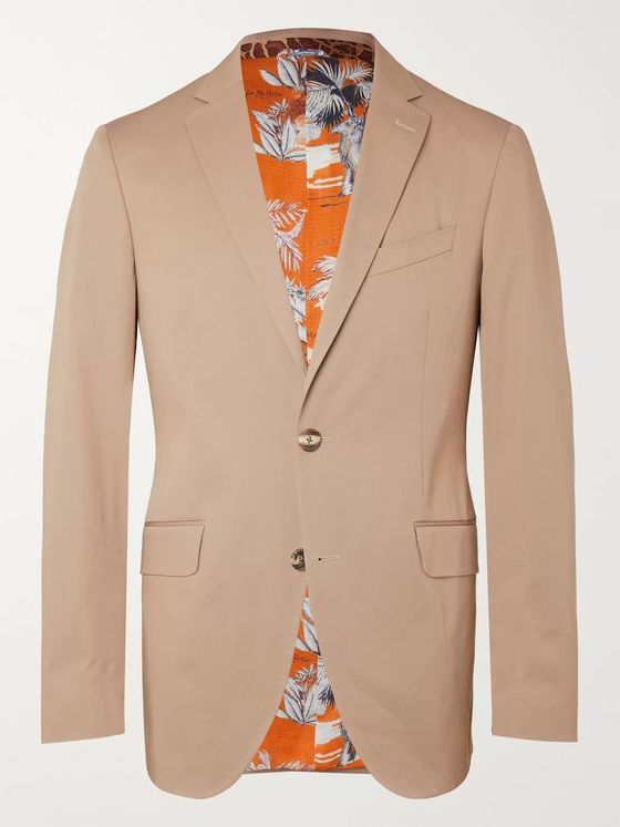 Etro Slim-Fit Stretch-Cotton Twill Suit Jacket