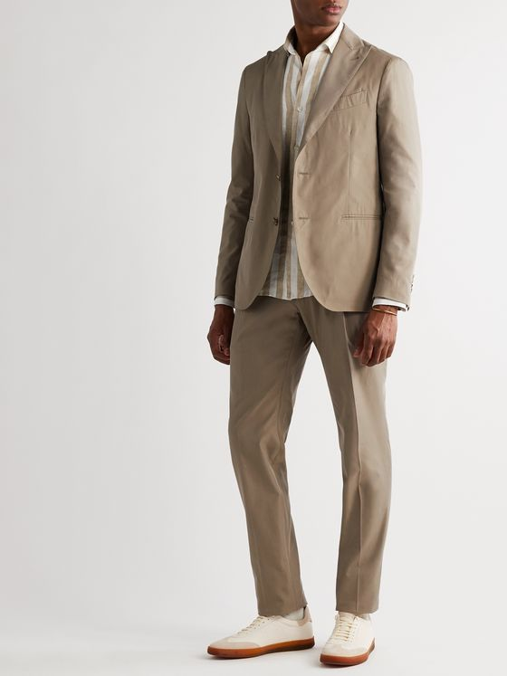 Lardini Unstructured Cotton and Silk-Blend Suit Jacket