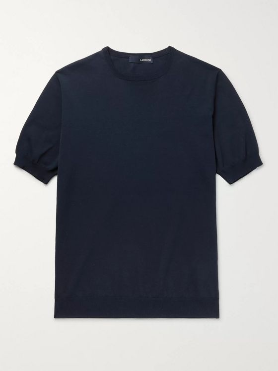 LARDINI Milo Slim-Fit Knitted Cotton T-Shirt