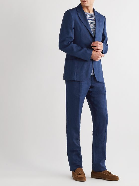 MP MASSIMO PIOMBO Andy Slim-Fit Linen Suit Jacket