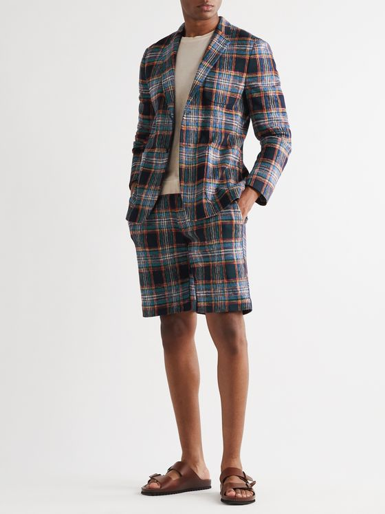 Missoni Checked Cotton and Wool-Blend Blazer